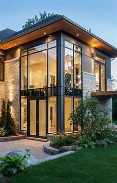 straight lines large windows such a modern home yet with the black trim it looks