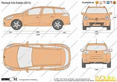 the blueprints vector drawing renault clio estate