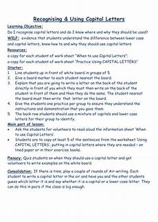recognising and using capital letters by helenlyall teaching resources