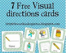teaching directions year 1 11789 is sweet in kindergarten free visual direction cards with images task cards