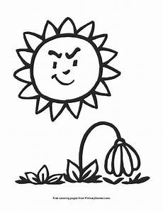 wilting flower coloring page printable summer coloring