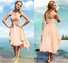 2015 spring beach wedding peach bridesmaid dresses cheap knee length short bridal party cocktail