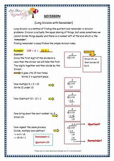 grade 3 maths worksheets division 6 4 division with remainder lets knowledge