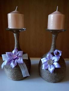 bicchieri per candele coppia bicchieri a calice portacandele vetro e corda per