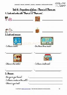 grammar worksheet there is there are with prepositions 25093 grammar exercises with pictures there is are