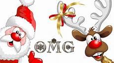 surprised santa amd rudolph wallpaper free christmas cartoons merry christmas quotes