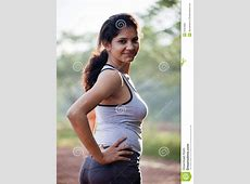 Indian Girl On Morning Exercise Stock Image   Image of