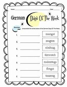 german worksheets for class 7 19578 german days of the week worksheet packet by side up resources