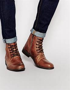 Boots Homme Mode Selected Leather Boots In Brown For Lyst
