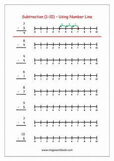 math subtraction worksheets 1 10 free printable number subtraction 1 10 worksheets for