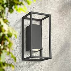 kell 14 quot high textured black box led up and down wall