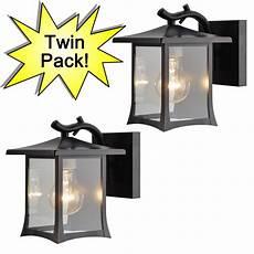 oil rubbed bronze outdoor twin pack light fixtures 73475