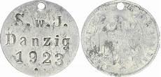Alu Marke S W J Danzig 1923 Auf Alu 200 J 1923