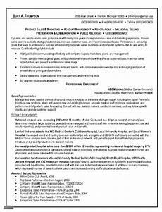 sle resume marketing representative sales