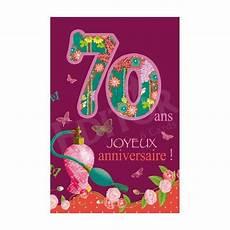 carte joyeux anniversaire 70 ans cadeau maestro