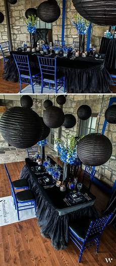 black silver and hues of blue combine to make our royal blue themed wedding truly regal see