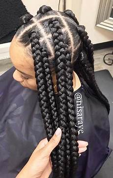 23 big box braids hairstyles for black hair stayglam