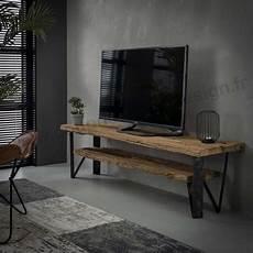 Meuble Tv En Bois Brut Style Tronc D 180 Arbre Sur Cdc Design