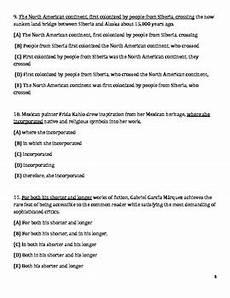 6th grade common core english language arts worksheets by mo don
