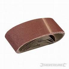 5 bandes papier de verre 60 x 400 mm grain 80