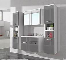 Badezimmermöbel Grau Hochglanz - badezimmer badm 246 bel paso xl led 80 cm waschbecken