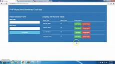 php mysql and bootstrap crud application record display in edit form part 8 youtube