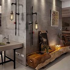 loft industrial style water pipe wall l retro restaurant bar cafe creative decorative