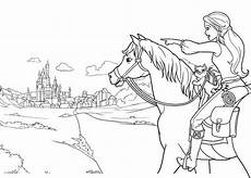 horseriding free colouring pages