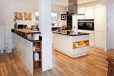 Einbauküche Mit Theke - theke kochinsel und moderne technik zusammen mit wei 223 en