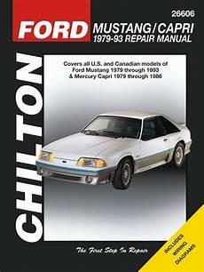 car repair manuals online free 1994 mercury capri parental controls ford mustang repair service manual 1979 1993 chilton 26606