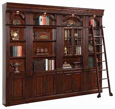 4 piece wellington library bookcase insert wall unit mahogany finish traditional bookcases