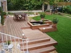 Terrasse Teich Sitzm 246 Glichkeit Treppen
