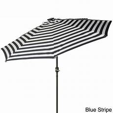 trademark innovations deluxe 9 foot solar powered led lighted patio umbrella pacific blue 9