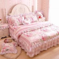 princess pink floral rose bedding duvet comforter cover set king queen size ebay
