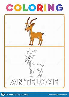 animal recognition worksheets 14025 antelope deer animal coloring book with exle preschool worksheet for practicing