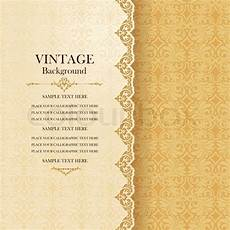invitation card template vintage vintage background antique greeting stock vector