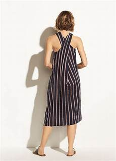 Stripe Twist textured stripe twist front halter dress for vince