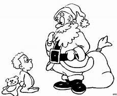 weihnachtsmann und junge ausmalbild malvorlage comics
