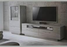 bois pour meuble acheter votre meuble tv contemporain bois gris 2 portes 1 niche chez simeuble