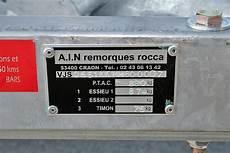 plaque de remorque remorque d occasion les points 224 v 233 rifier voile moteur