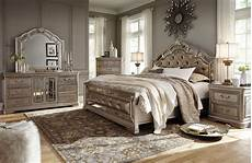 birlanny silver upholstered panel bedroom from