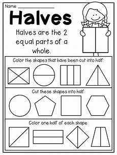 shapes in half worksheets 1140 grade fractions and partitioning worksheets grade math teaching fractions