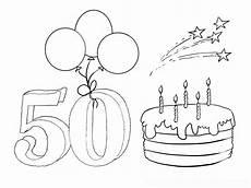 Kostenlose Ausmalbilder Geburtstag Ausmalbild Zum 50 Geburtstag Birthday Coloring Pages