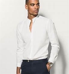 polo col mao homme chemise blanche col mao slim tenue de chemises blanches