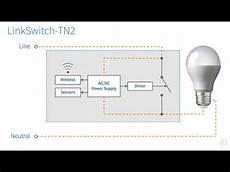 no neutral smart wall switch with linkswitch tn2 youtube