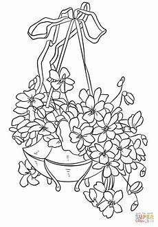 easter flowers coloring page free printable coloring pages