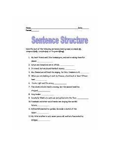english worksheets sentence structure