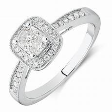 engagement ring with 1 2 carat tw of diamonds in 14ct