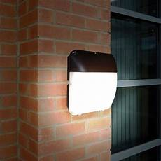 eterna 30w cool white led outdoor wall light with dusk to dawn sensor lyco direct