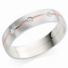 9ct white gold and rose gold diamond 5mm men s wedding ring 0110867 beaverbrooks the jewellers